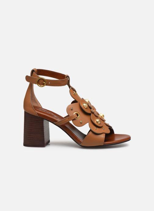 Sandales et nu-pieds See by Chloé Haya Howl Marron vue derrière