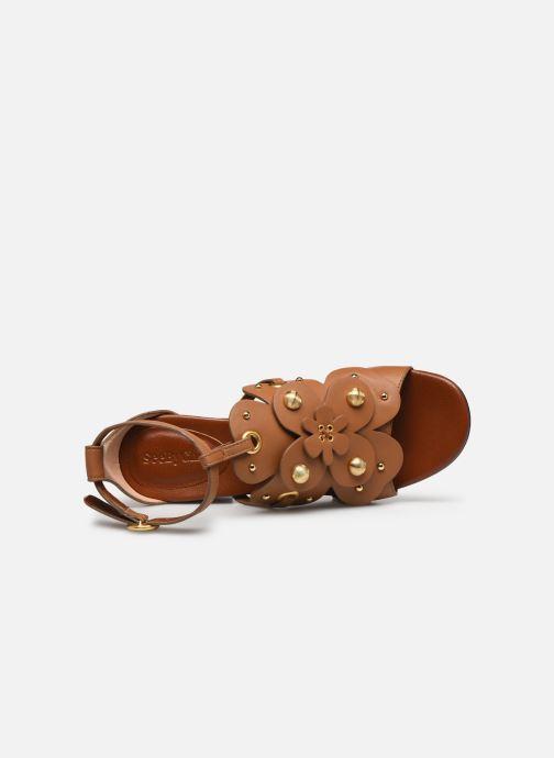 Sandales et nu-pieds See by Chloé Haya Howl Marron vue gauche