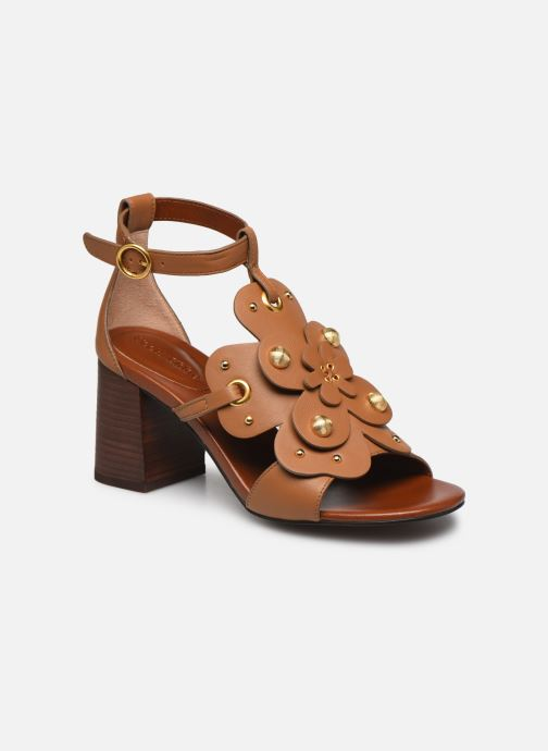 Sandales et nu-pieds See by Chloé Haya Howl Marron vue détail/paire
