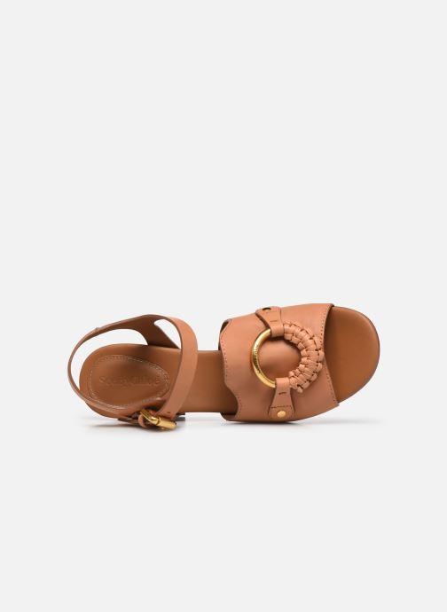 Sandali e scarpe aperte See by Chloé Hana Jarvis Marrone immagine sinistra