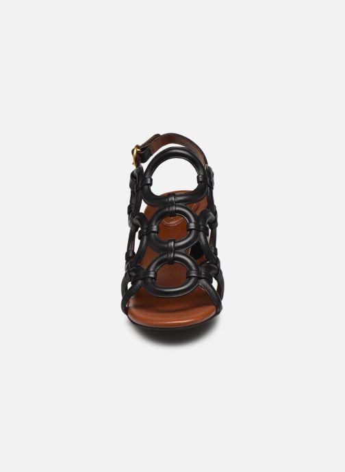 Sandalias See by Chloé Kara Howl Negro vista del modelo