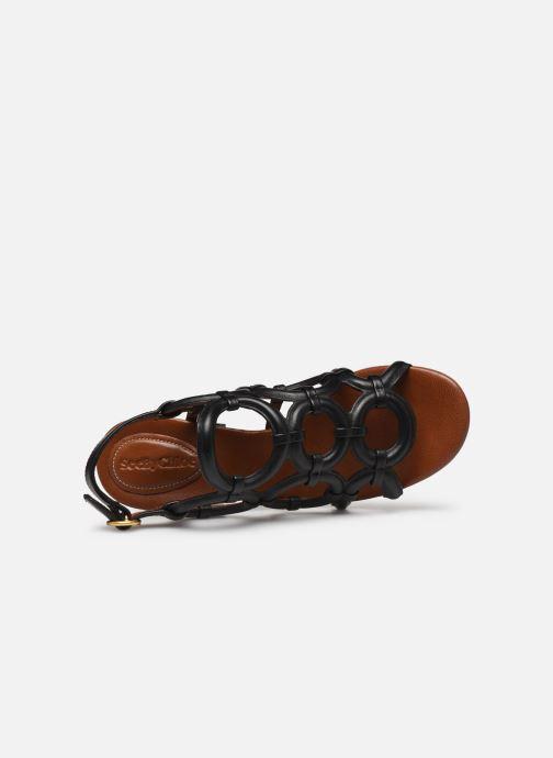 Sandalias See by Chloé Kara Howl Negro vista lateral izquierda