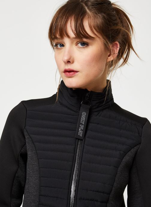 Vêtements Only Play Onpjolina Ls Woven Padded Short Jacket Noir vue face