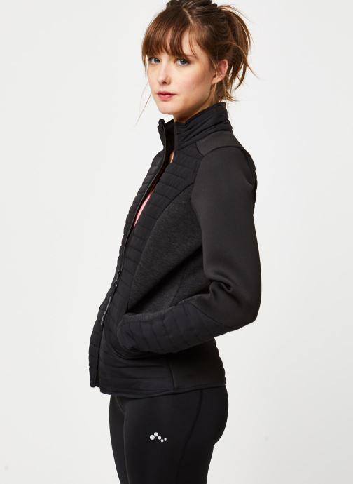 Vêtements Only Play Onpjolina Ls Woven Padded Short Jacket Noir vue droite