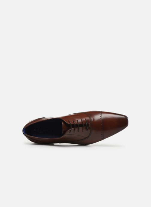 Zapatos con cordones Azzaro DOGME Marrón vista lateral izquierda