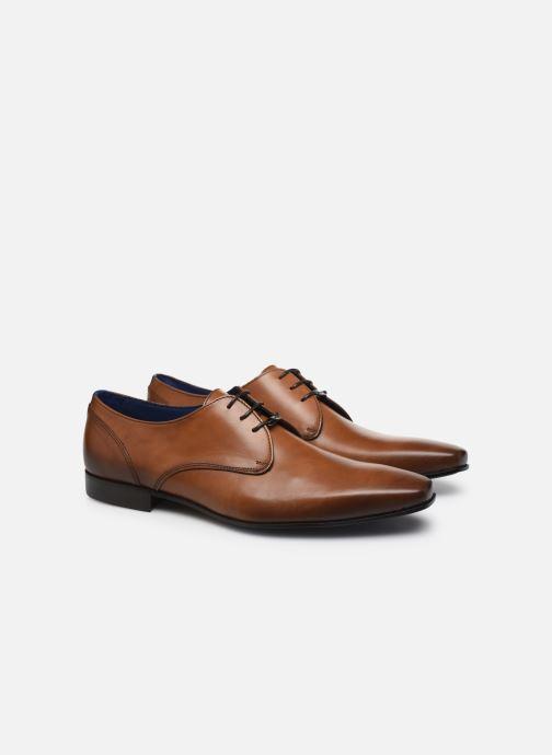 Zapatos con cordones Azzaro DOPING Marrón vista 3/4