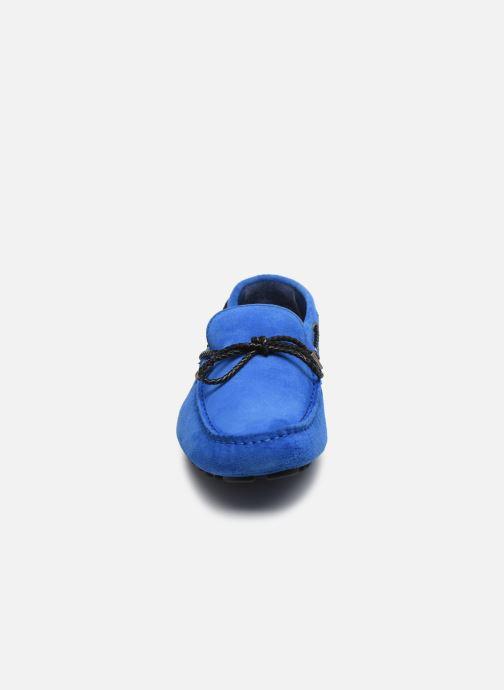 Mocassini Azzaro SMET Azzurro modello indossato