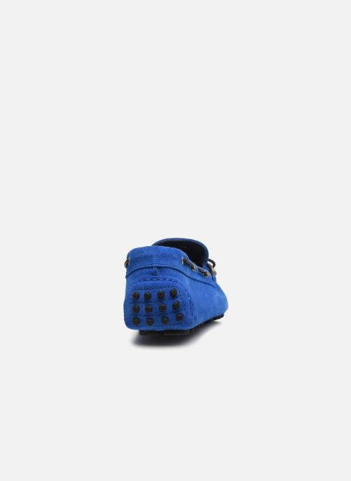Mocasines Azzaro SMET Azul vista lateral derecha