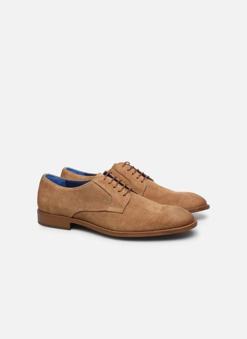 Zapatos con cordones Azzaro ZENOU Marrón vista 3/4