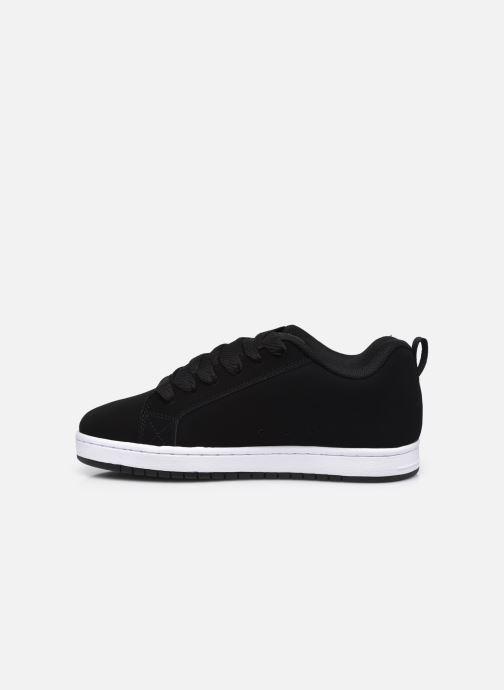 Sneaker DC Shoes Court Graffik schwarz ansicht von vorne