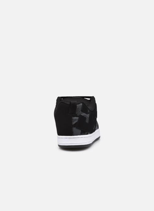 Sneaker DC Shoes Court Graffik schwarz ansicht von rechts