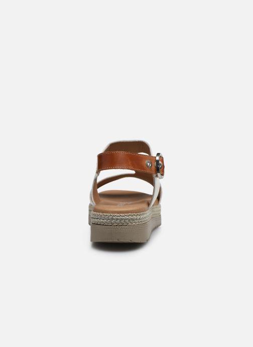 Sandales et nu-pieds Dorking Went D8234 Blanc vue droite