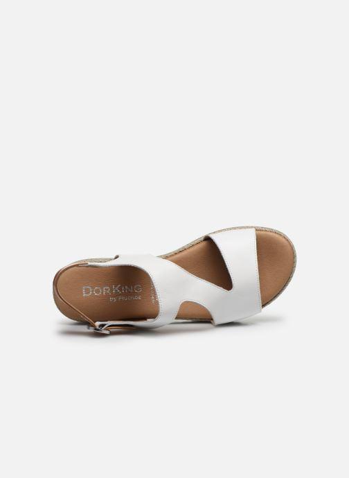 Sandales et nu-pieds Dorking Went D8234 Blanc vue gauche
