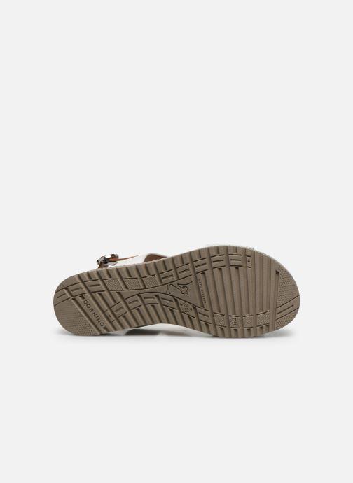 Sandales et nu-pieds Dorking Went D8234 Blanc vue haut