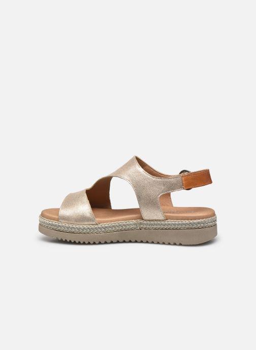 Sandales et nu-pieds Dorking Went D8234 Or et bronze vue face