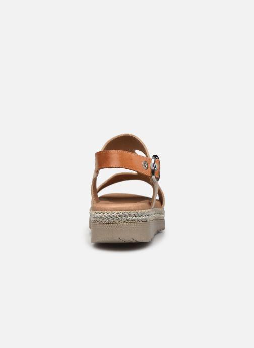 Sandales et nu-pieds Dorking Went D8234 Or et bronze vue droite