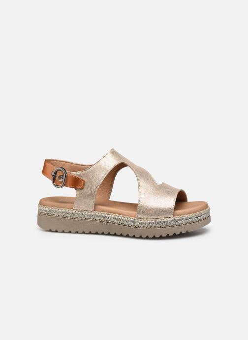 Sandales et nu-pieds Dorking Went D8234 Or et bronze vue derrière