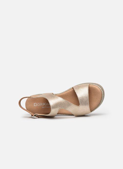 Sandales et nu-pieds Dorking Went D8234 Or et bronze vue gauche