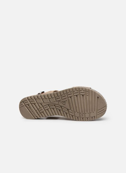 Sandales et nu-pieds Dorking Went D8234 Or et bronze vue haut