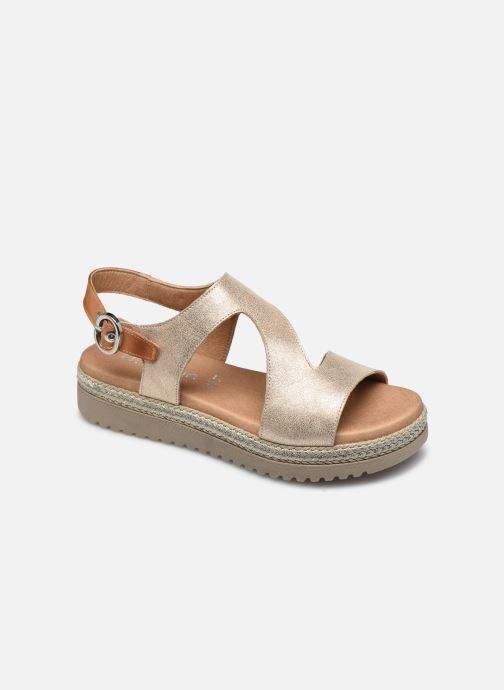 Sandales et nu-pieds Dorking Went D8234 Or et bronze vue détail/paire
