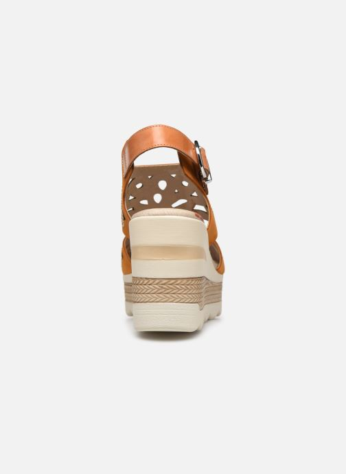 Sandalias Dorking Evan D8167 Marrón vista lateral derecha