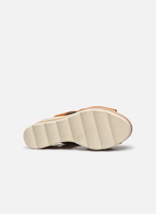 Sandales et nu-pieds Dorking Evan D8167 Marron vue haut