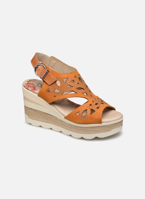 Sandales et nu-pieds Dorking Evan D8167 Marron vue détail/paire