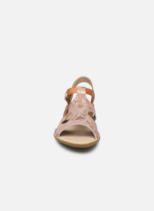 Sandales et nu-pieds Dorking Auda D8188 Rose vue portées chaussures