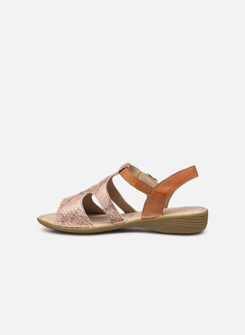 Sandales et nu-pieds Dorking Auda D8188 Rose vue face