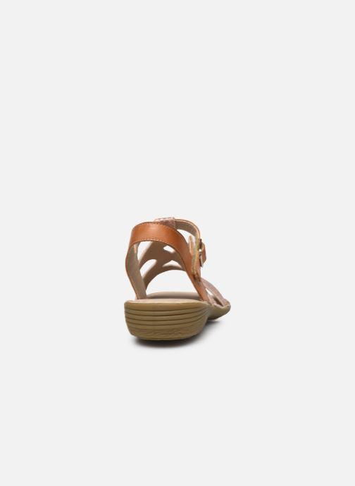 Sandales et nu-pieds Dorking Auda D8188 Rose vue droite