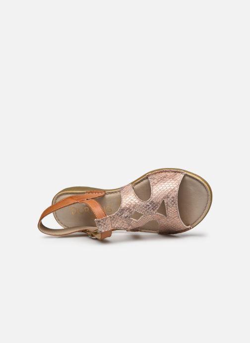 Sandales et nu-pieds Dorking Auda D8188 Rose vue gauche