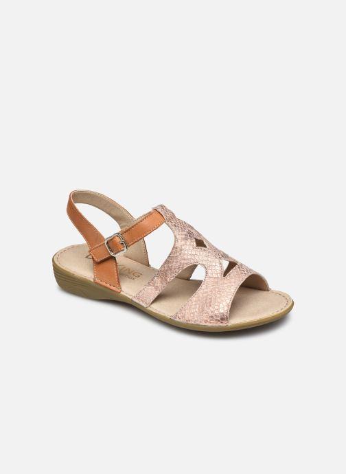 Sandales et nu-pieds Dorking Auda D8188 Rose vue détail/paire