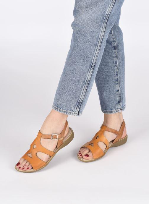Sandales et nu-pieds Dorking Auda D8188 Orange vue bas / vue portée sac