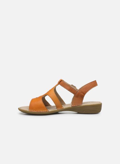 Sandales et nu-pieds Dorking Auda D8188 Orange vue face