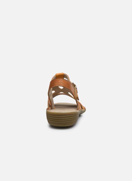 Sandales et nu-pieds Dorking Auda D8188 Orange vue droite