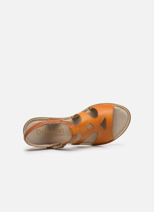 Sandales et nu-pieds Dorking Auda D8188 Orange vue gauche