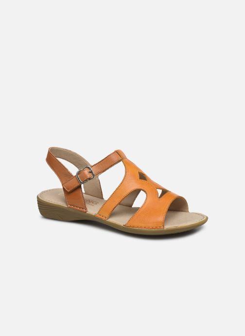 Sandales et nu-pieds Dorking Auda D8188 Orange vue détail/paire