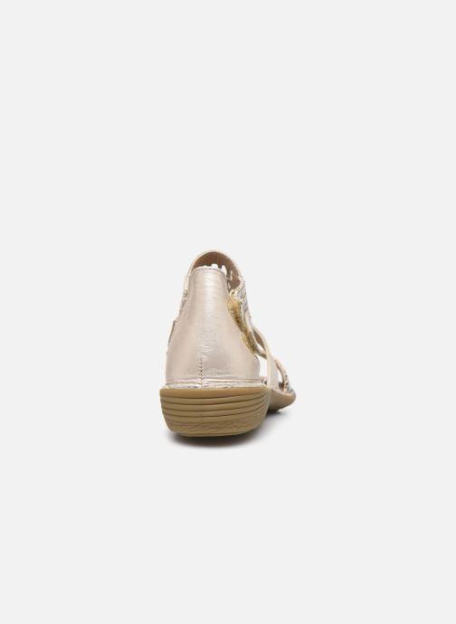 Sandales et nu-pieds Dorking Oda D6769 Blanc vue droite
