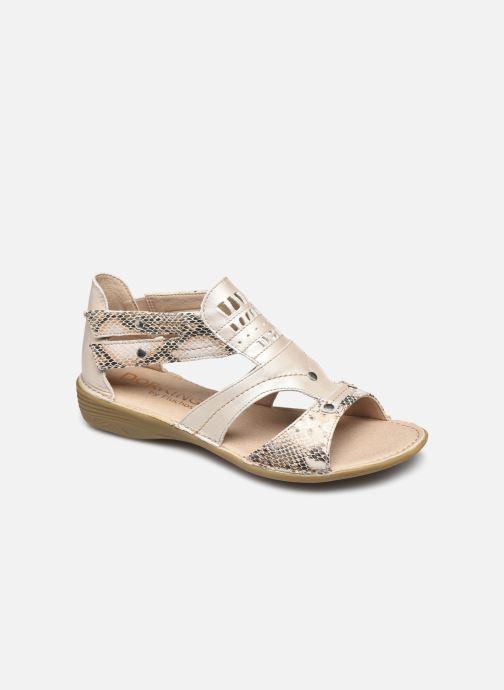 Sandales et nu-pieds Dorking Oda D6769 Blanc vue détail/paire