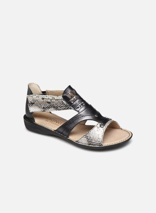 Sandales et nu-pieds Dorking Oda D6769 Noir vue détail/paire