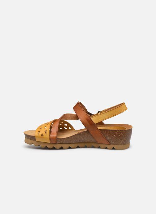 Sandales et nu-pieds Dorking Samir D8157 Marron vue face