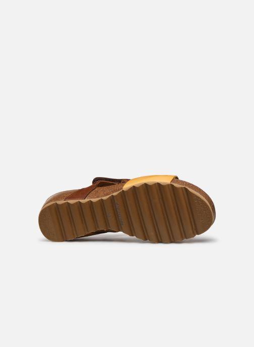 Sandales et nu-pieds Dorking Samir D8157 Marron vue haut