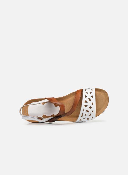 Sandales et nu-pieds Dorking Samir D8157 Blanc vue gauche