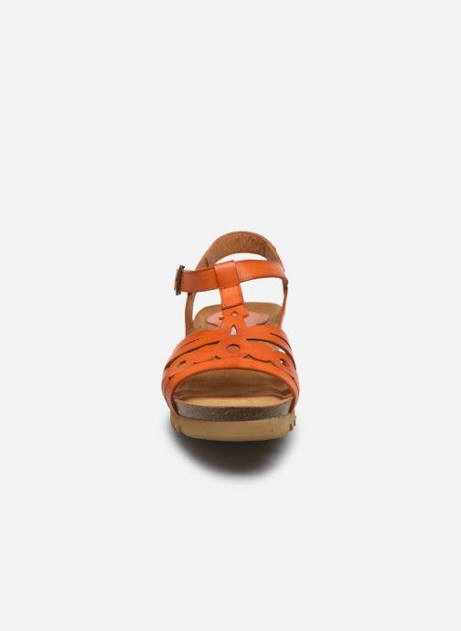 Sandales et nu-pieds Dorking Summer D8158 Orange vue portées chaussures