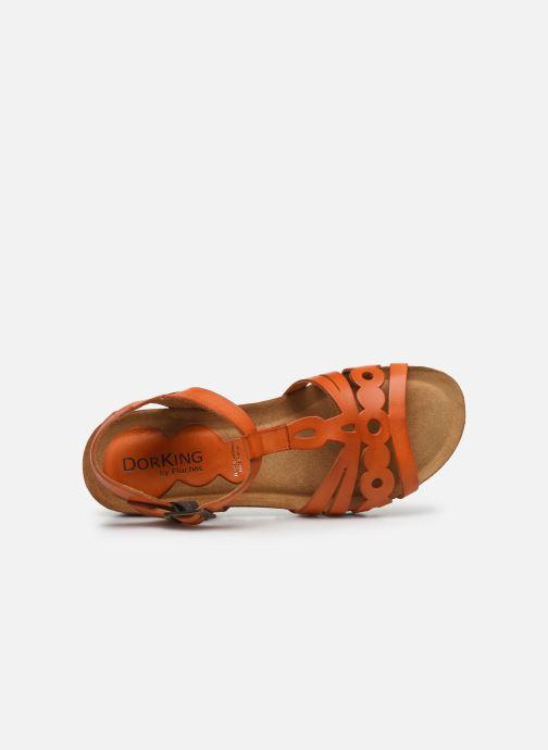 Sandalias Dorking Summer D8158 Naranja vista lateral izquierda