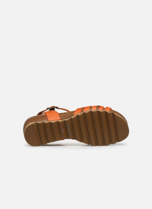 Sandales et nu-pieds Dorking Summer D8158 Orange vue haut