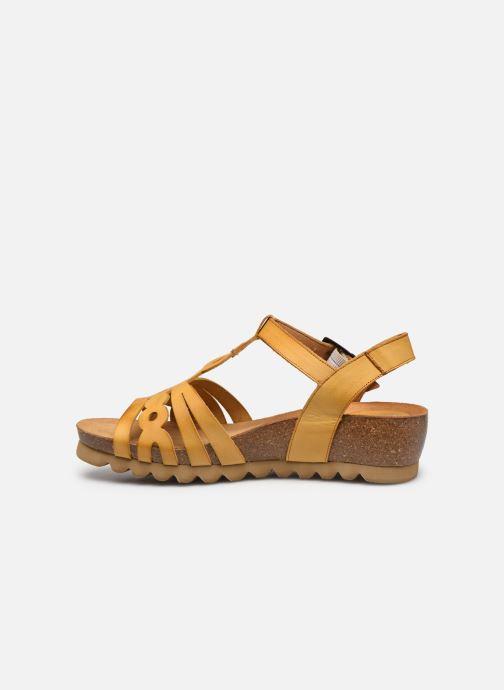 Sandales et nu-pieds Dorking Summer D8158 Jaune vue face