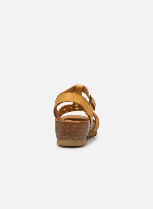 Sandales et nu-pieds Dorking Summer D8158 Jaune vue droite