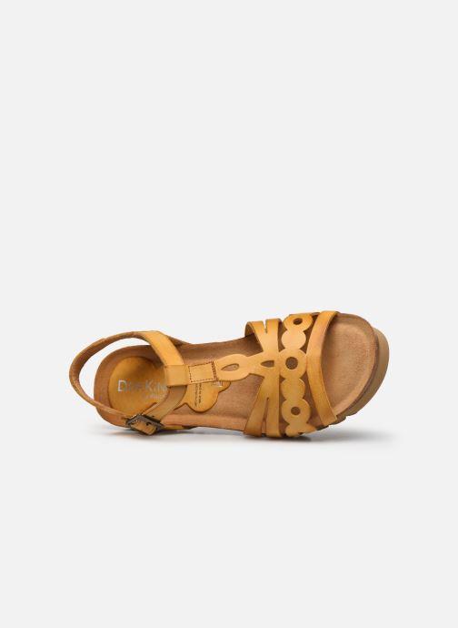 Sandales et nu-pieds Dorking Summer D8158 Jaune vue gauche