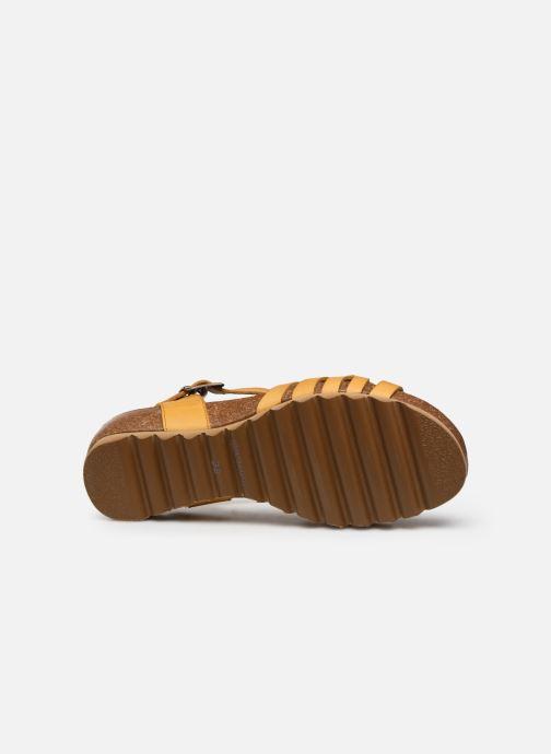 Sandales et nu-pieds Dorking Summer D8158 Jaune vue haut